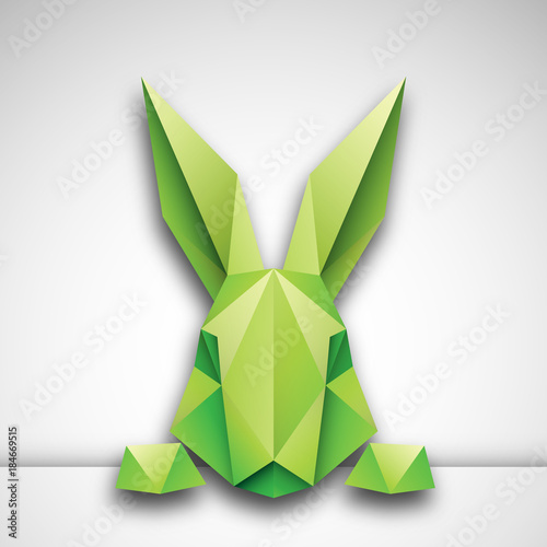 Fototapeta królik origami wektor obraz