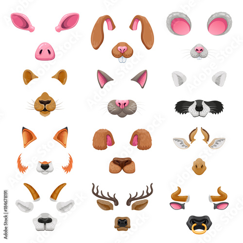 Video chat animal faces effects Wallpaper Mural