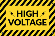 Switchboard High Voltage Sign ...