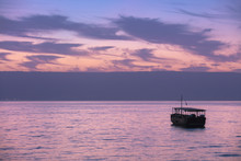 Beautiful Sea Of Galilee In The Morning. Time Before Sunrise