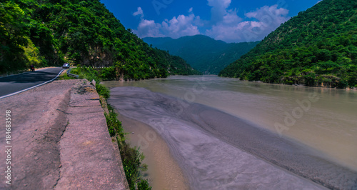 Alaknanda river uttarakhand, India