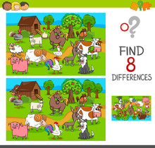 Find Differences With Farm Ani...
