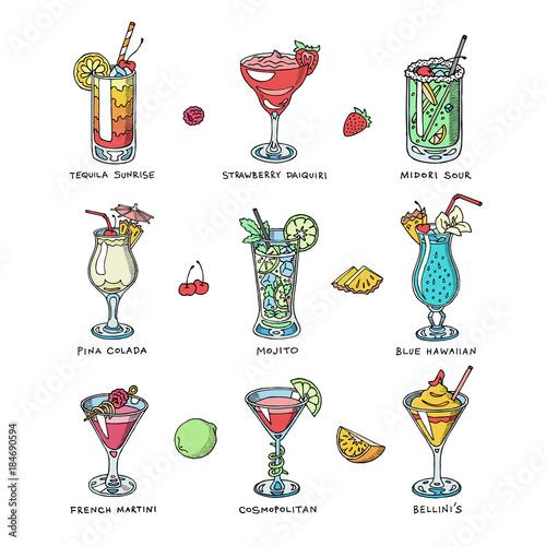 Fotografía Cocktail vector alcohol beverage drinking alcoholic tequila martini drink cockta