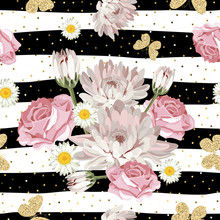 Floral Seamless Pattern With G...
