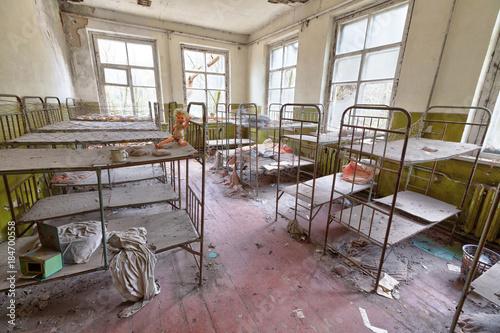 Fotografie, Obraz  Ruined room in kindergarten in Chernobyl.