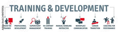 Fototapeta Banner training and development concept obraz