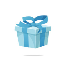 Cartoon Gift Box Vector Isolated