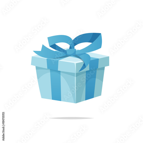 Photo  Cartoon gift box vector isolated