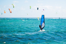 Windsurfers On The Le Morne Be...