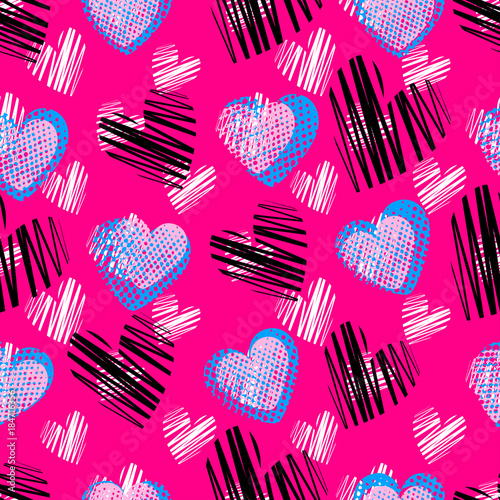 Abstract Seamless Heart Pattern For Girls Boys Creative