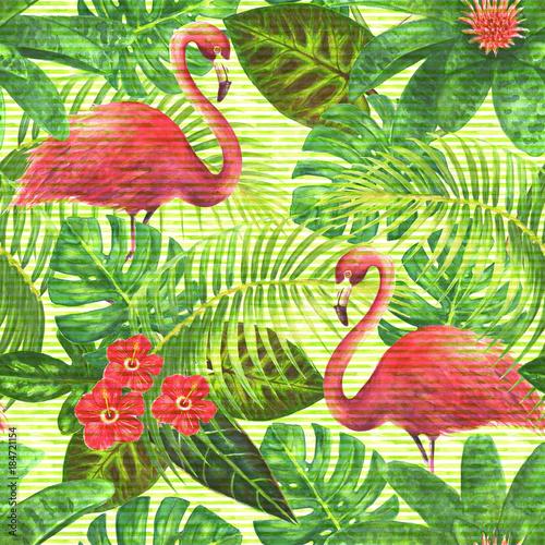Paradise exotic seamless pattern
