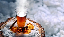 Hot Tea For Warming Up In Winter Day
