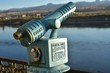 vintage coin operated telescope binoculars river view