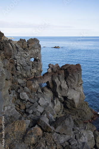 Photo cliff near Acireale in Sicily