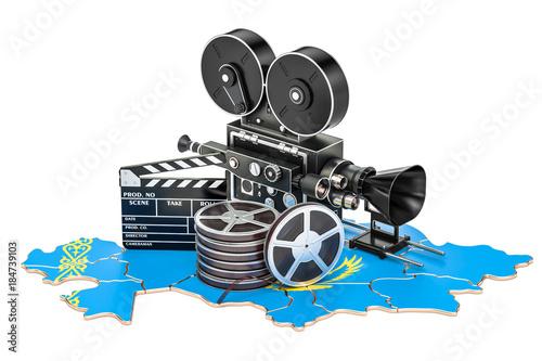 Fotografia, Obraz Kazakh cinematography, film industry concept. 3D rendering