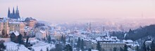 Snowy Winter Prague Panorama
