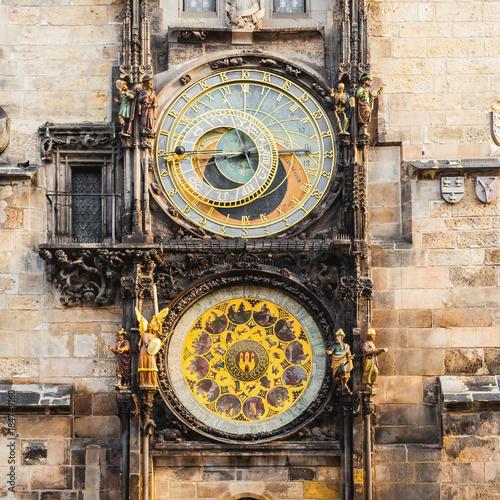 Foto op Aluminium Praag Prague astronomical clock in the building of the Old Town Hall. Prague, Czech Republic.