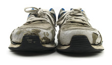 Old Sneaker Shoes Isolated On ...