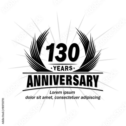Fotografia  130 years design template