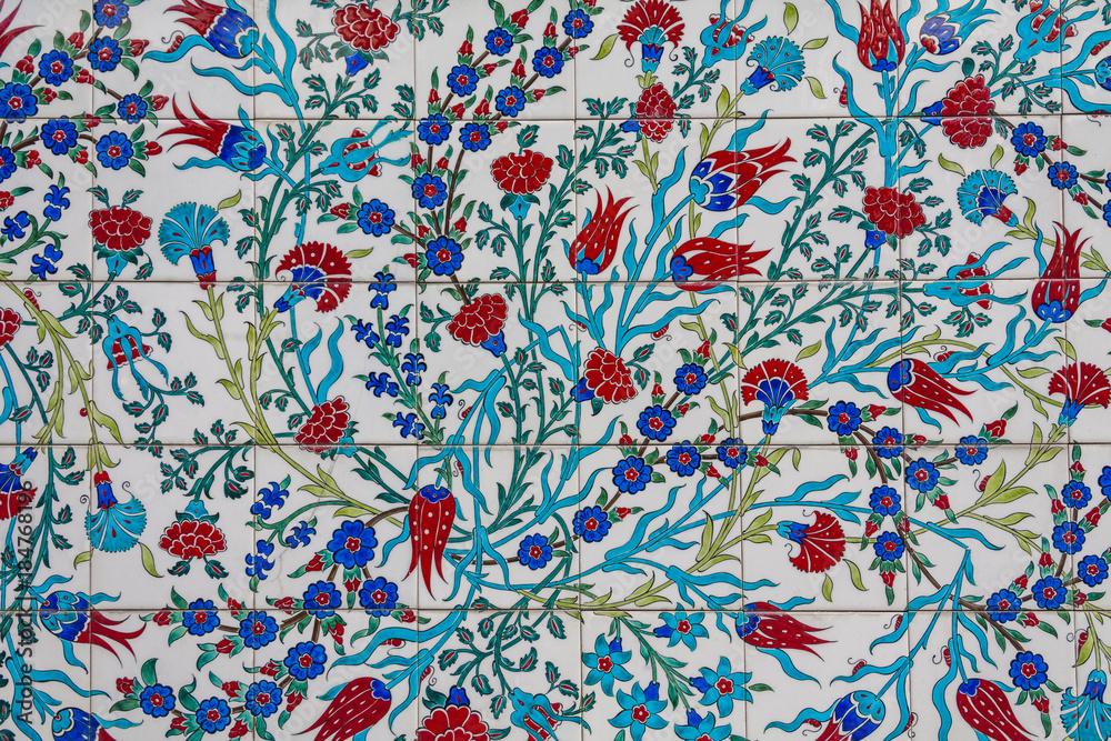 Photo Art Print Turkish Tiles Floral Pattern Turkish Tile Classy Turkish Pattern