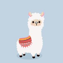 Cute Alpaca  Fluffy