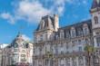 Paris, the city hall, place de l'Hotel de Ville, beautiful parisian monument