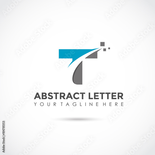 f0bfba4a Abstract Letter T Logo Design. Vector Illustrator Eps. 10 - Buy this ...