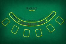 Black Jack Gambling Table. Fla...