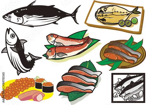 Fotomural 魚介類9