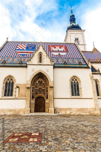 Foto op Plexiglas Artistiek mon. Church of Saint Mark - Zagreb, Croatia
