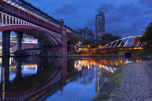 Castlefield in Manchester Canvas Print