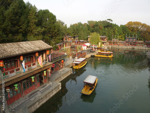 Tuinposter China The Summer Place in Beijing City.Travel in Beijing City, China. 20th October, 2017.