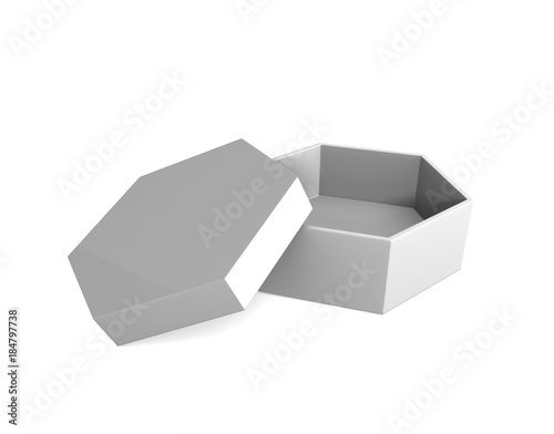 white cardboard box template on a grey background, packaging ...