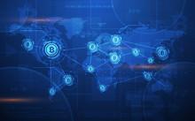 Global Abstract Bitcoin Crypto...