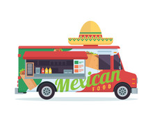 Modern Delicious Commercial Food Truck Vehicle - Mexican Food
