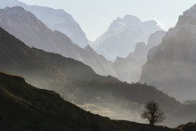 Misty Mountain. Himalayas, Nepal