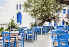 Traditional Greek Street In Am...