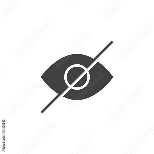 Fotografía  Hidden user interface icon vector, filled flat sign, solid pictogram isolated on white