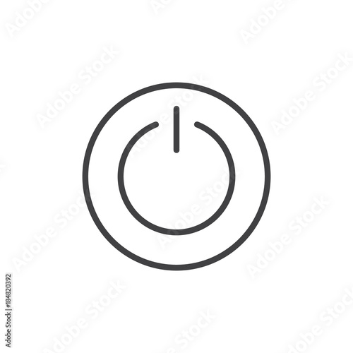 Vászonkép  Power switch line icon, outline vector sign, linear style pictogram isolated on white