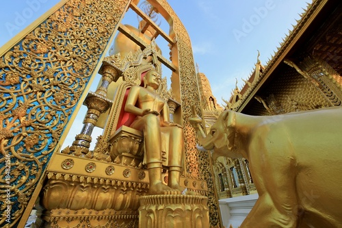 In de dag Bangkok The art was created to cultural heritage.
