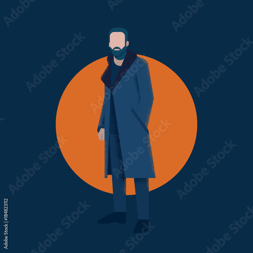 Pinturas sobre lienzo  Vector Character Man Illustration Template