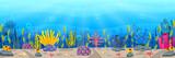 Fototapeta Fototapety na ścianę do pokoju dziecięcego - Underwater scene with tropical coral reef