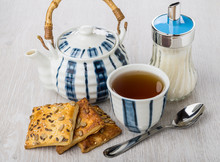 Teapot, Tea, Sugar Bowl And Co...