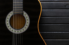 Black Acoustic Guitar Body Clo...