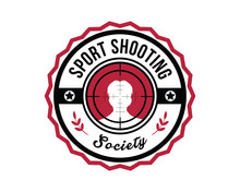 Modern Shooting Sports Club Badge Logo