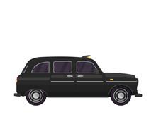 Vintage Black Taxi Illustration