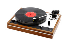 Record Turntable Isolated On W...