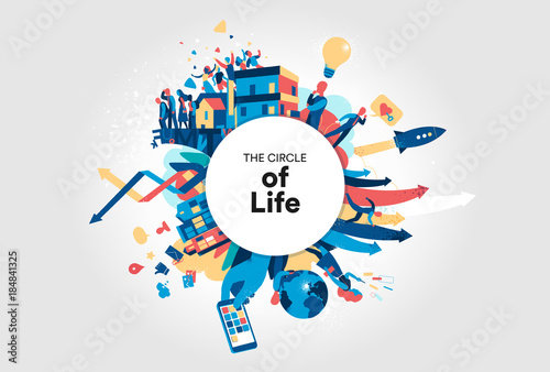 Fototapeta Il cerchio della vita moderna