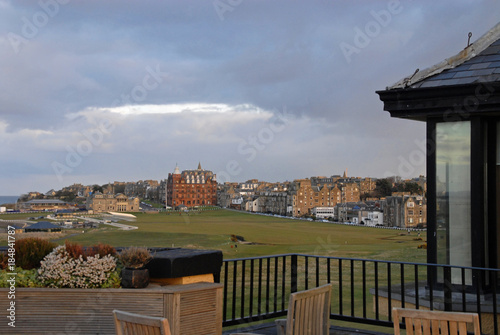 Fotografie, Tablou View of the 1st and 18th hole at the Old Course in St