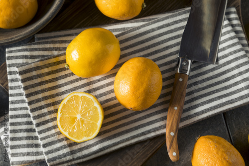 Raw Yellow Organic Meyer Lemons Wallpaper Mural